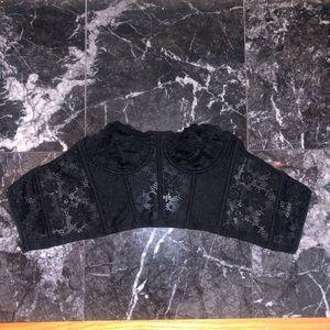 NWOT  Black Lace Corset Bra